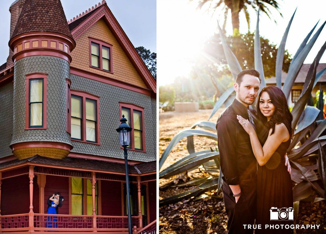 engagement photo shoot of Old Town Couple in historic area