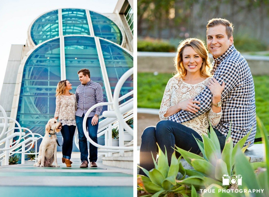 San Diego engagement shoot colorful locations