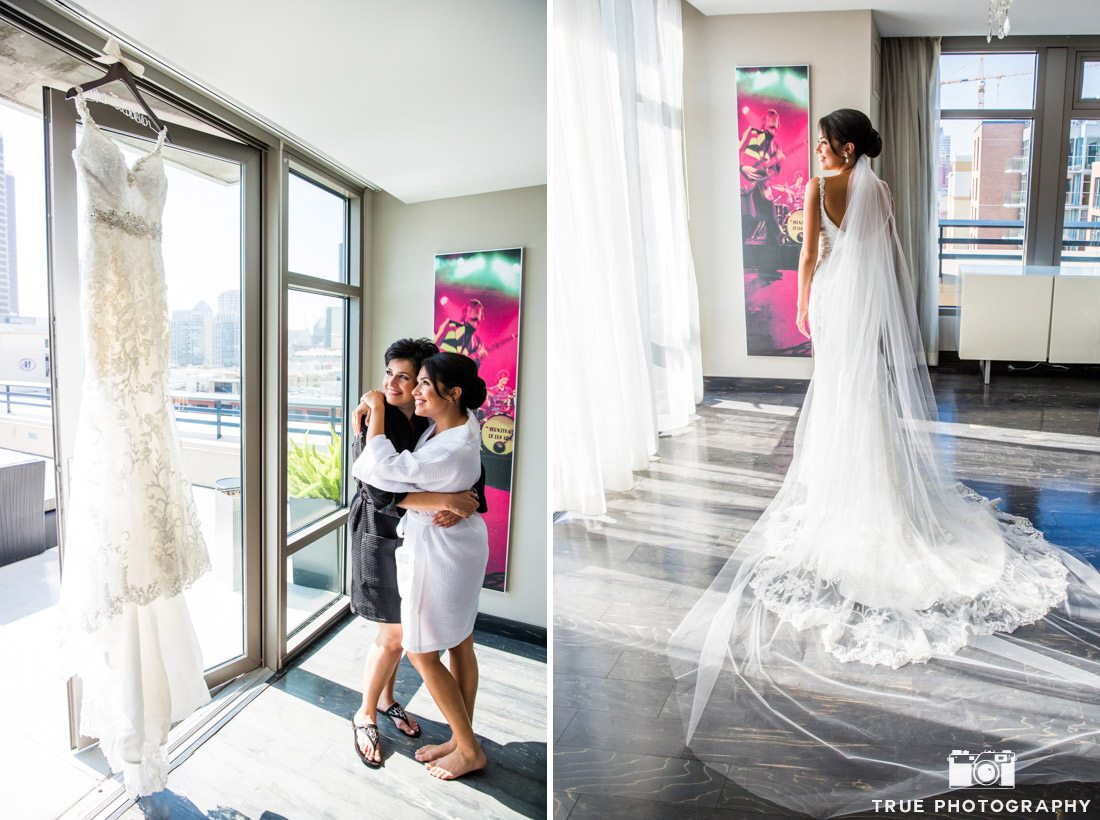 bride getting ready at hard rock hotel