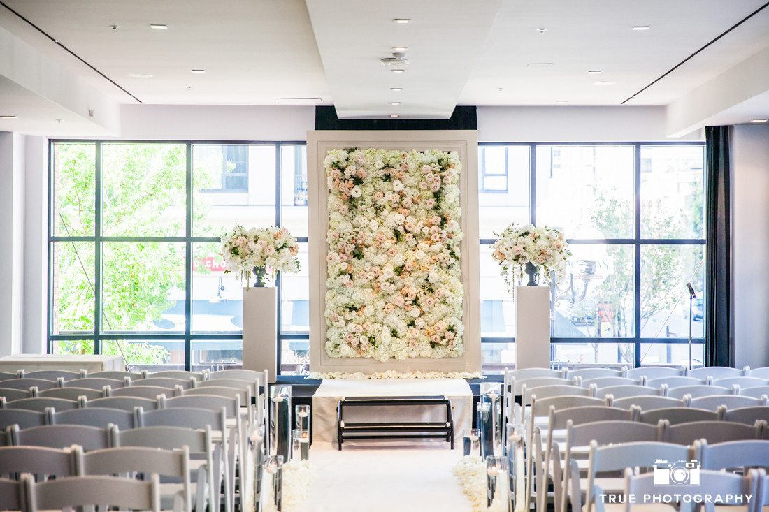 flower wall ceremony room