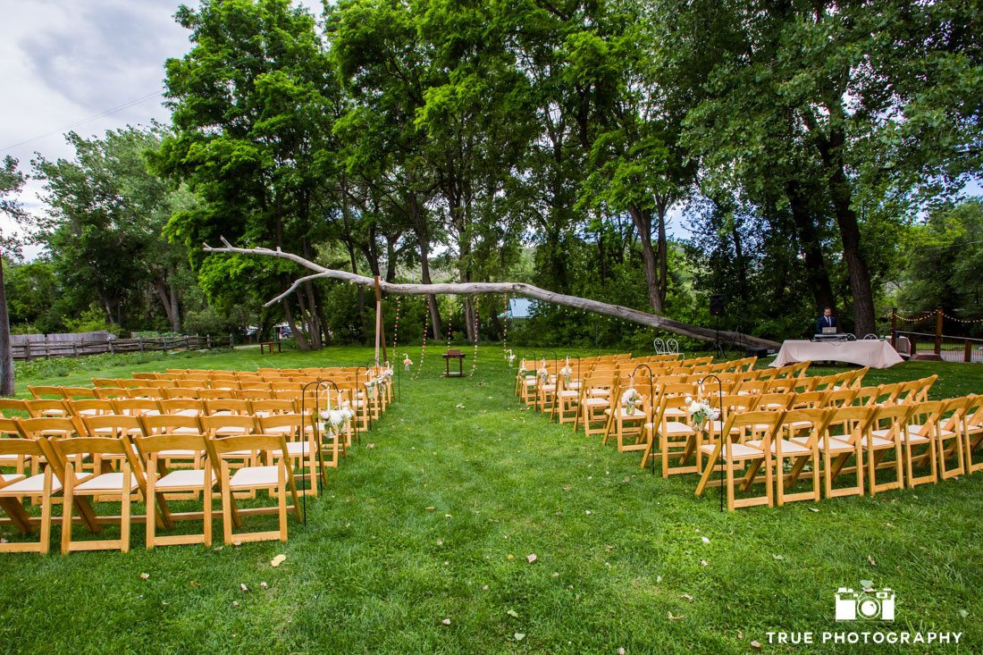 beautiful outdoor reception site on lawn