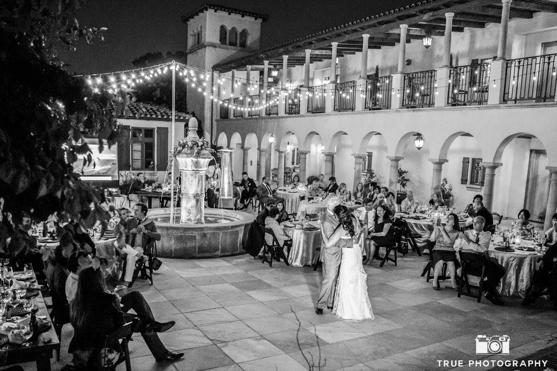 Father daugher dance at california vineyard wedding