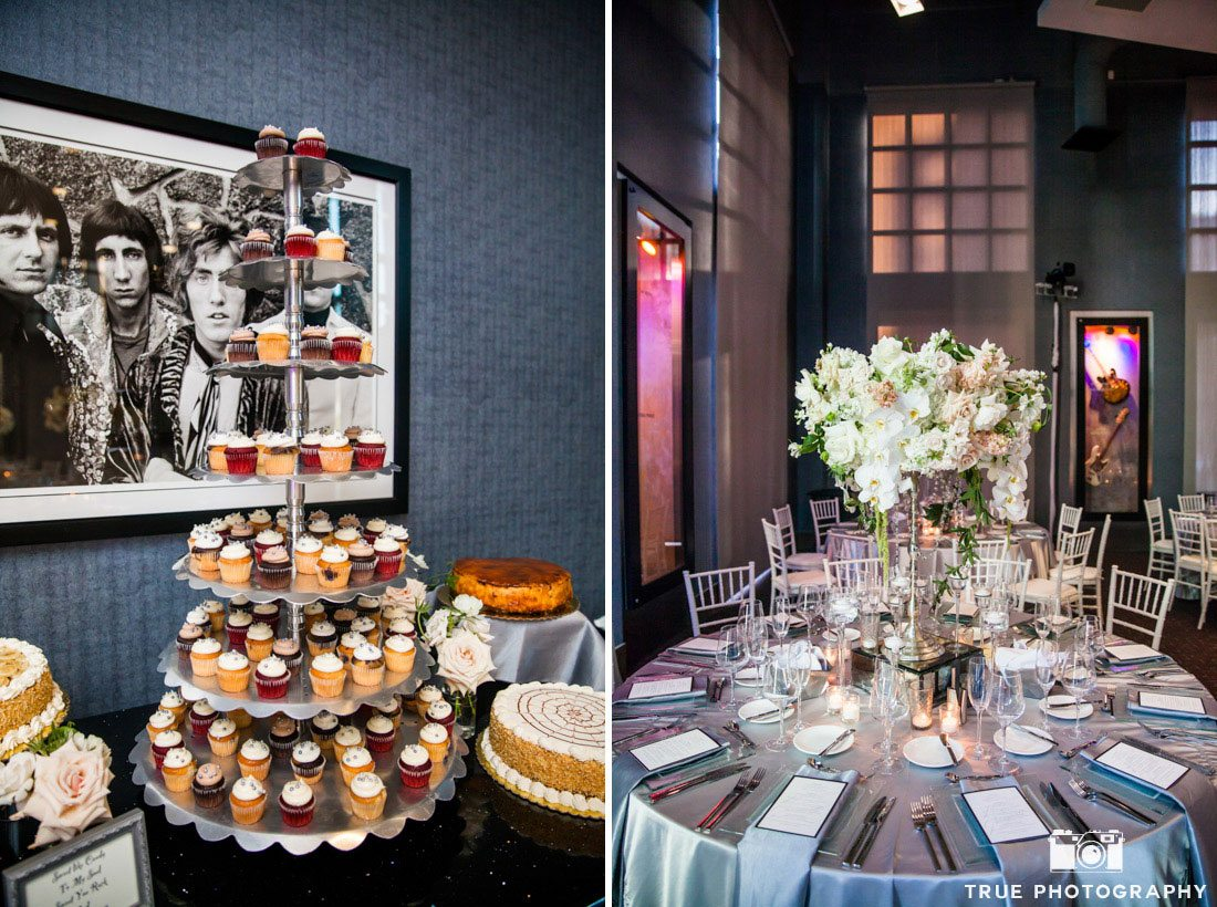 dessert table and reception table setup