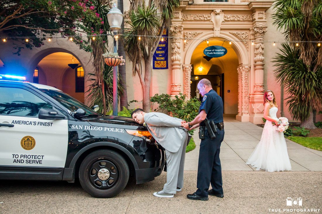 Groom gets arrested on wedding day at balboa park