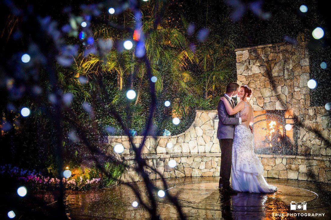 Couple Kiss in Rain
