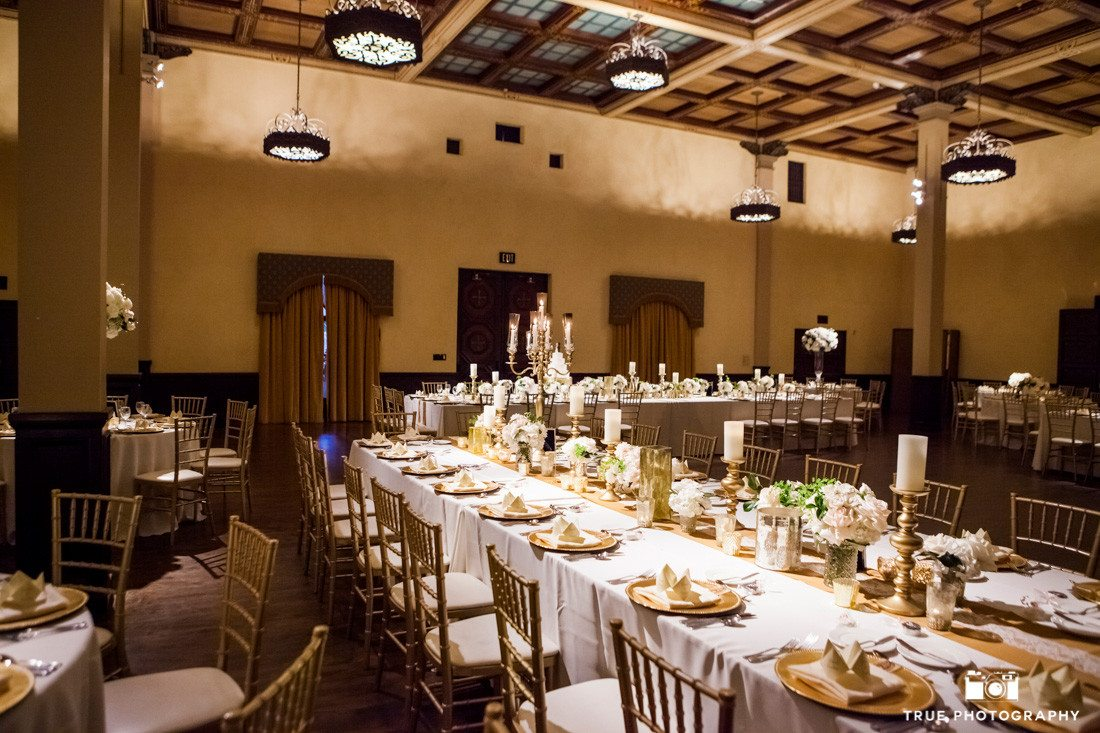 Reception room at Wedding at The Prado, at Balboa Park