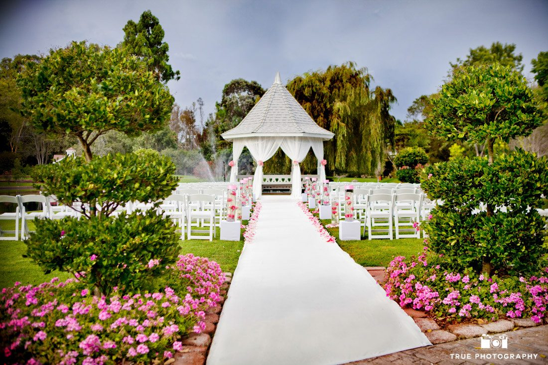 Beautiful pink ceremony at Beverly Mansion