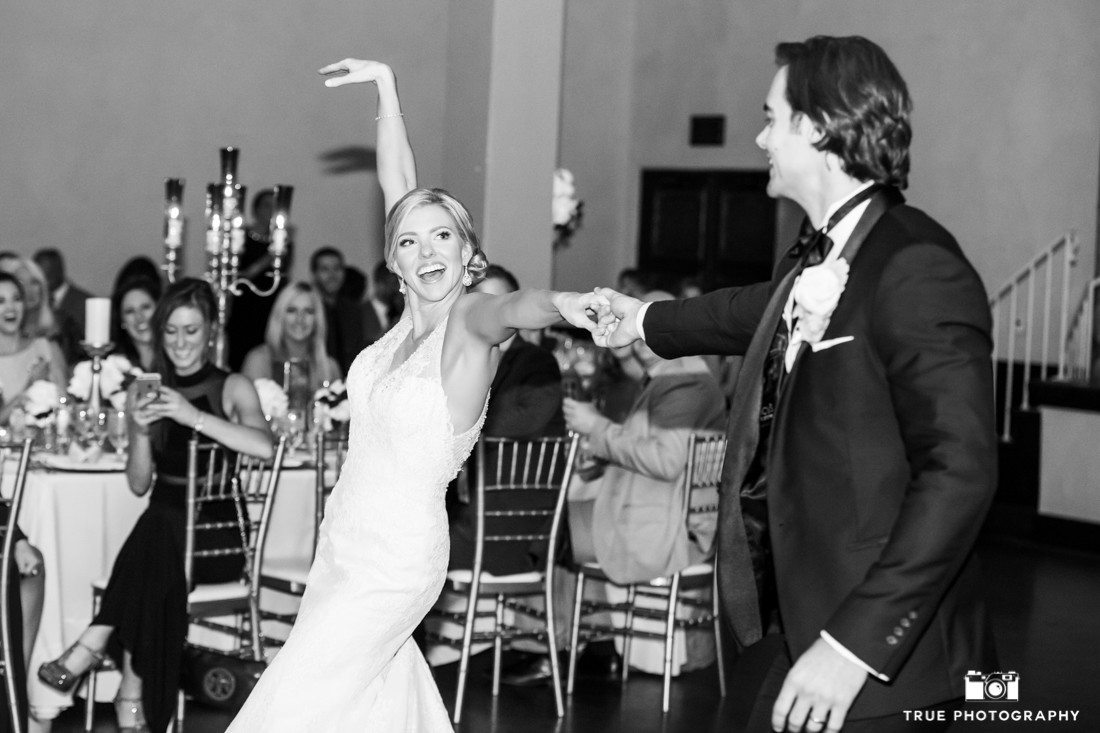 Bride and Groom perform Choreographed first dance at Wedding