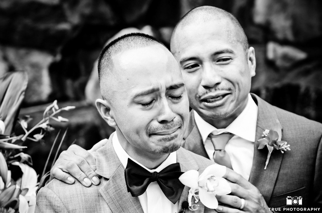Groom Cries After Seeing Bride