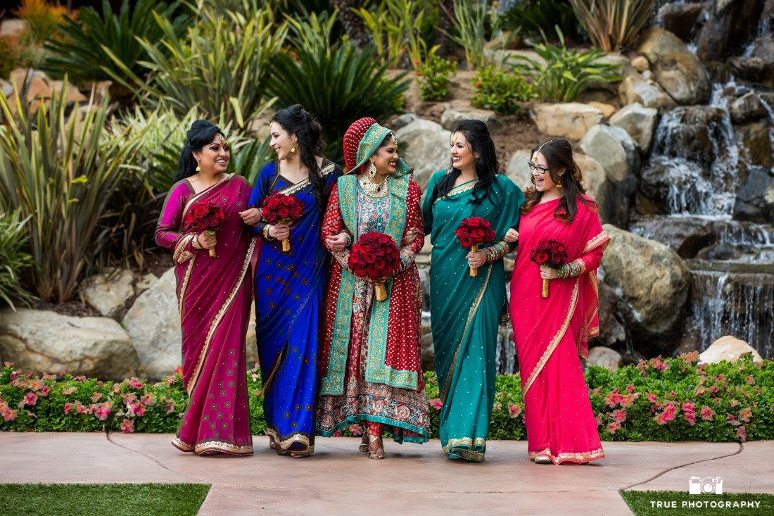 Cultural bridesmaids at the Grand Tradition Estate in Fallbrook