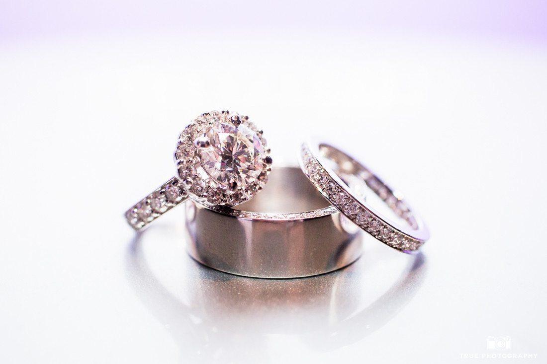 Macro photograph of wedding rings