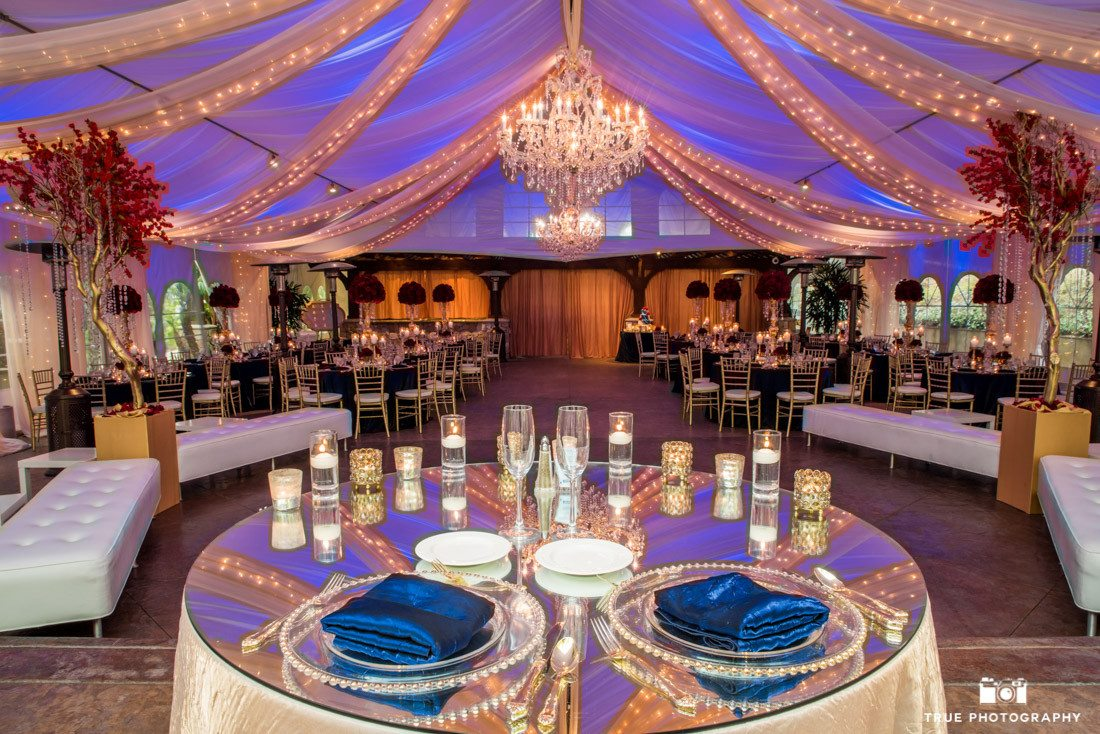 Luxurious Reception setup at the Arbor Terrace at the Grand Tradition Estate