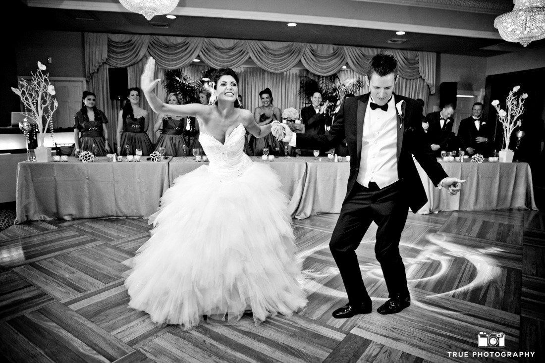 Couple have fun during First Dance
