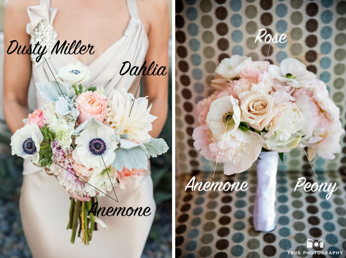 Classic bouquets using anemone flowers