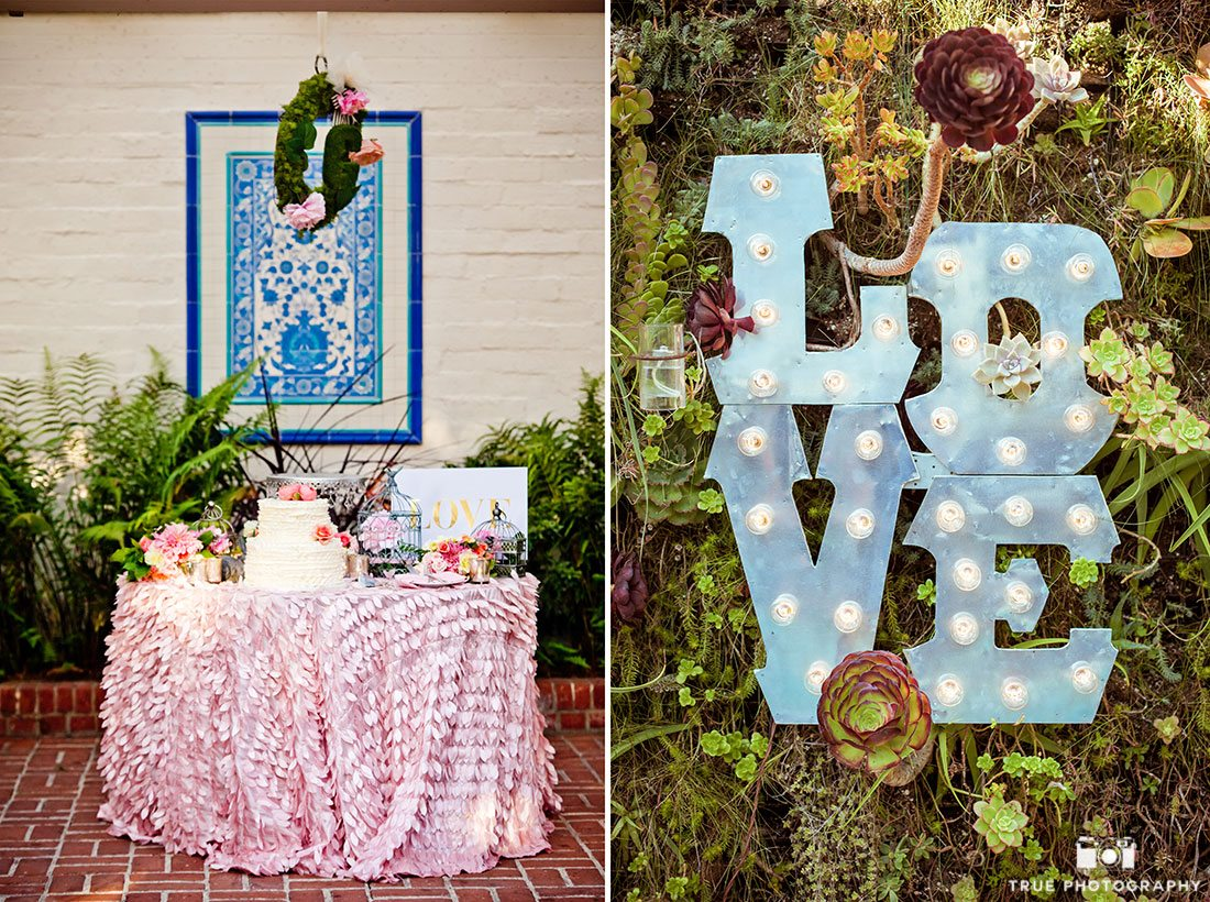 Creative colorful wedding details using Pantone colors of 2016
