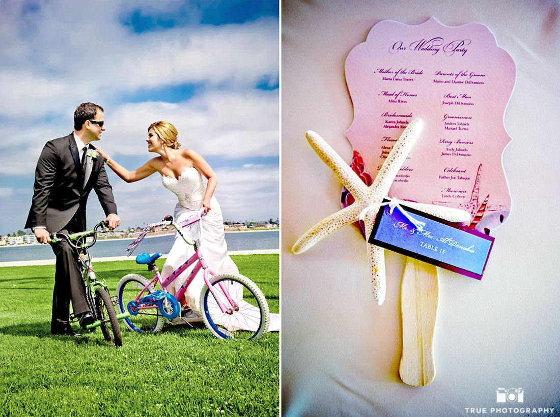 Creative ways to feature 2016 Pantone colors using fun props on your wedding day