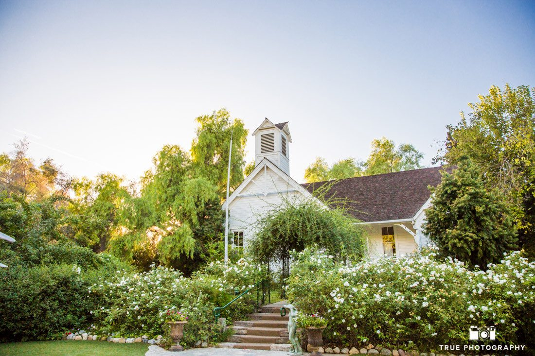 Scenic photo of vintage schoolhouse at Green Gables Wedding Estate