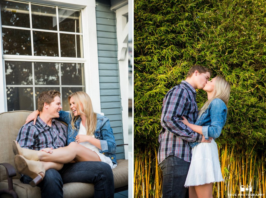 Candid engagement photos in Point Loma, San Diego