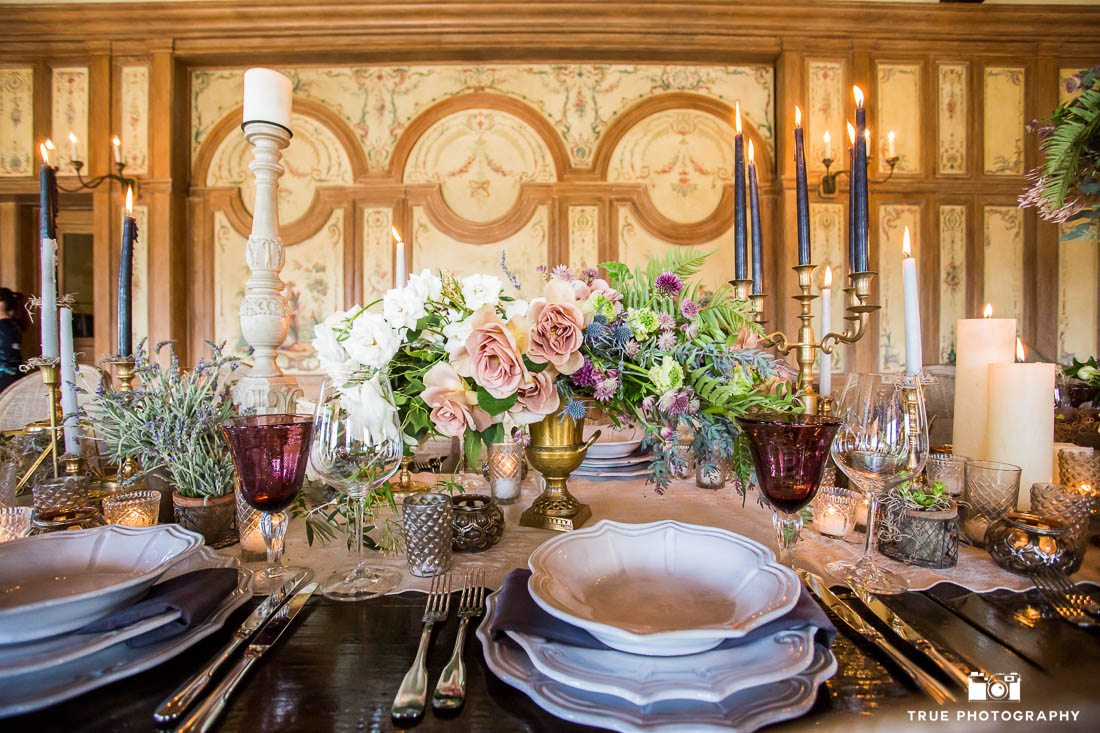 Rustic beauty luxury wedding tablescape