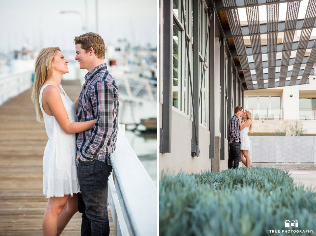 Intimate and candid engagement photos in Point Loma, California