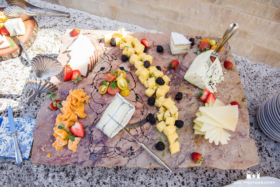 Artisan cheese board for event