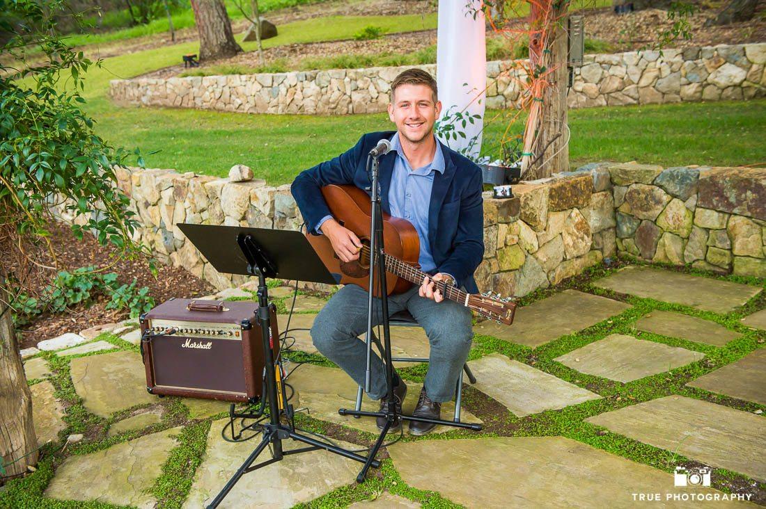 Wedding ceremony accoustic guitarist