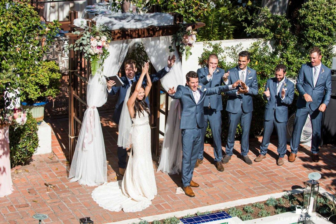 Mazel Tov at the Darlington House in La Jolla, California