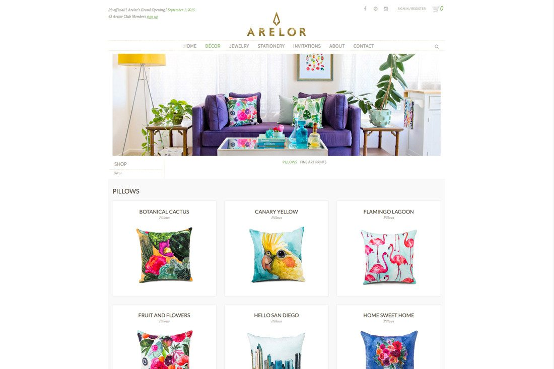 Newly photographed product in place on arelor.com