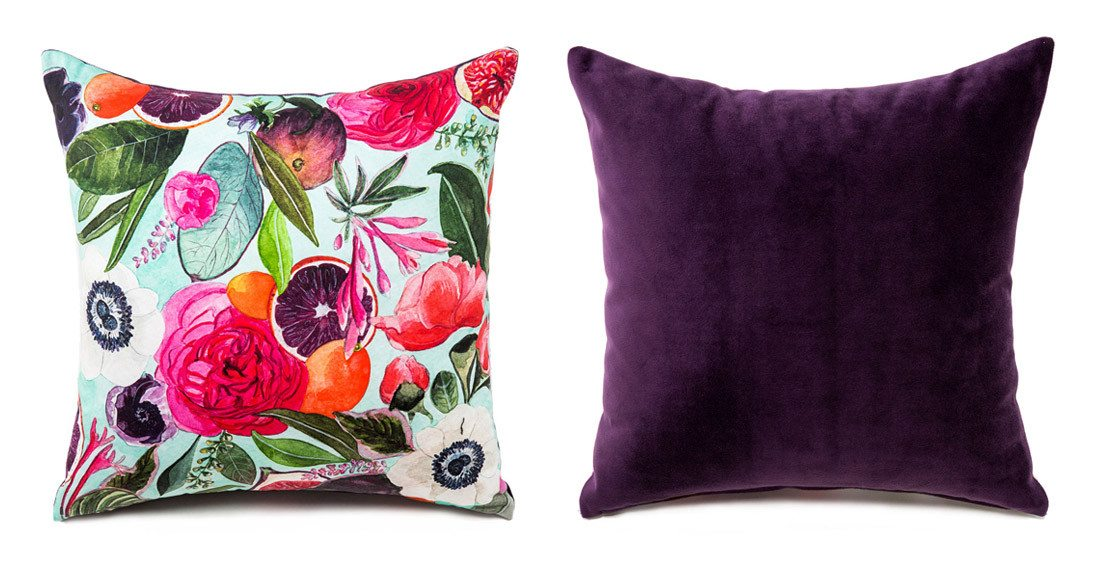 Product shot of floral boutique pillow on arelor.om