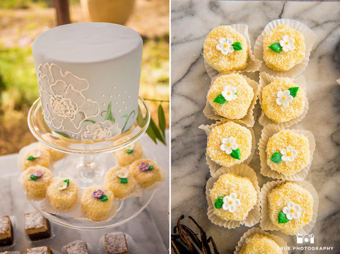 Wedding cake by Sweet Cheeks Baking Company in San Diego