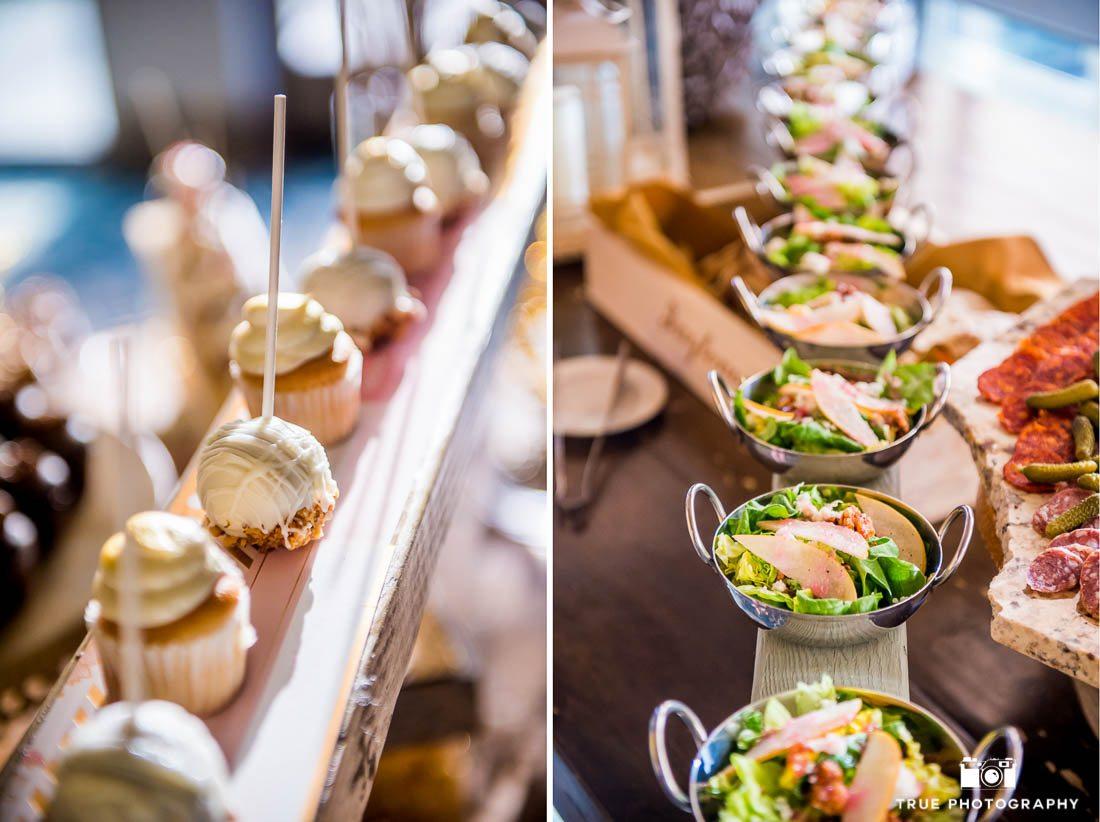 Wedding dessert and salad in Vista California