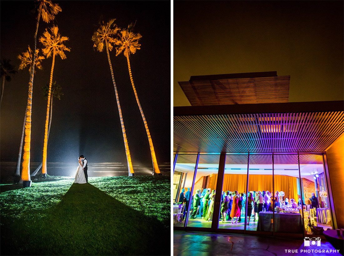 Night portrait and reception at Scripps Seaside Forum
