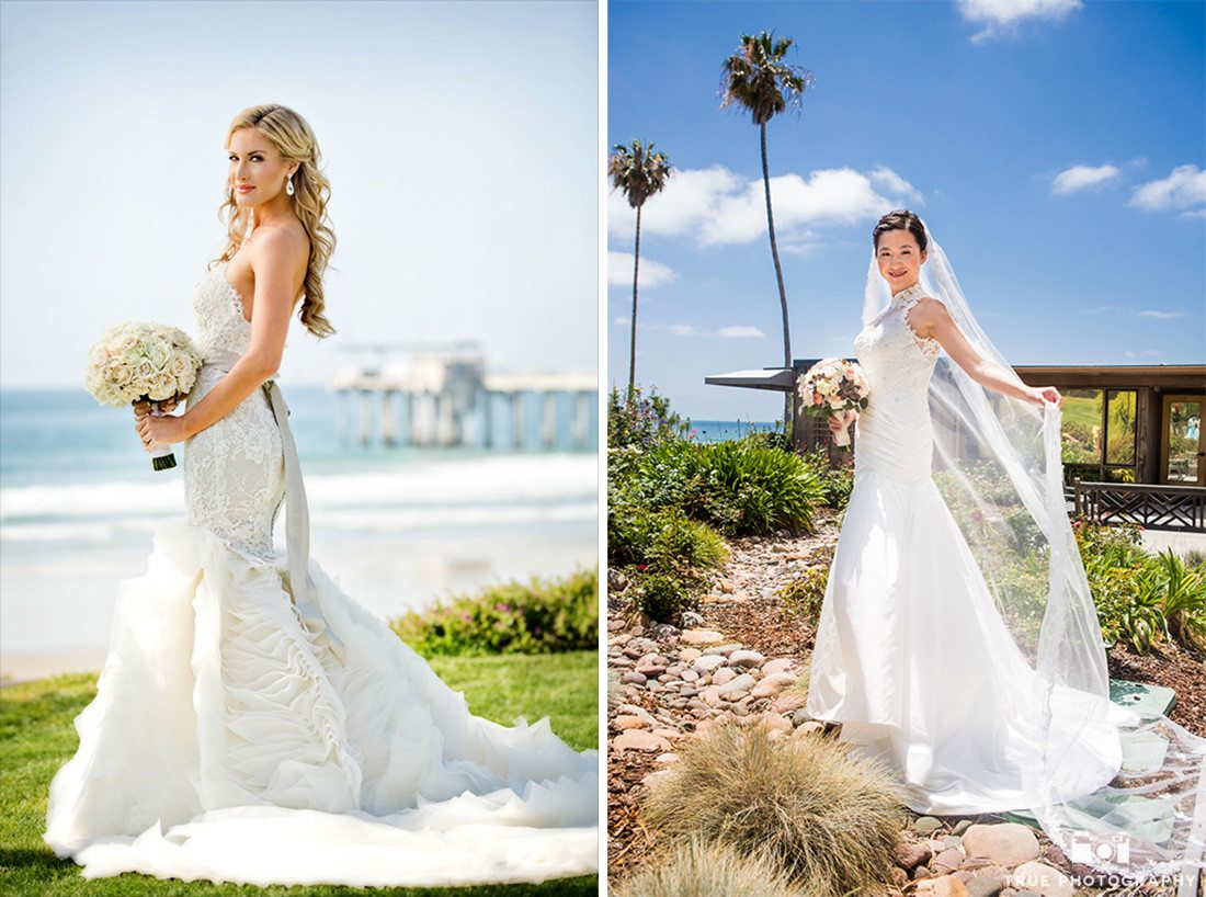 Bride portraits at Scripps Seaside Forum