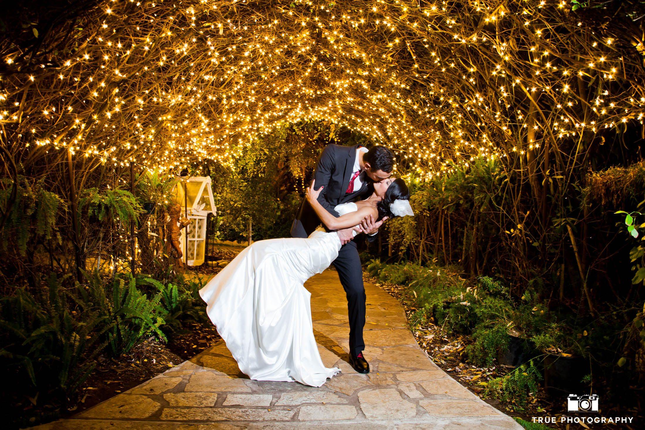 Bride and groom night shot