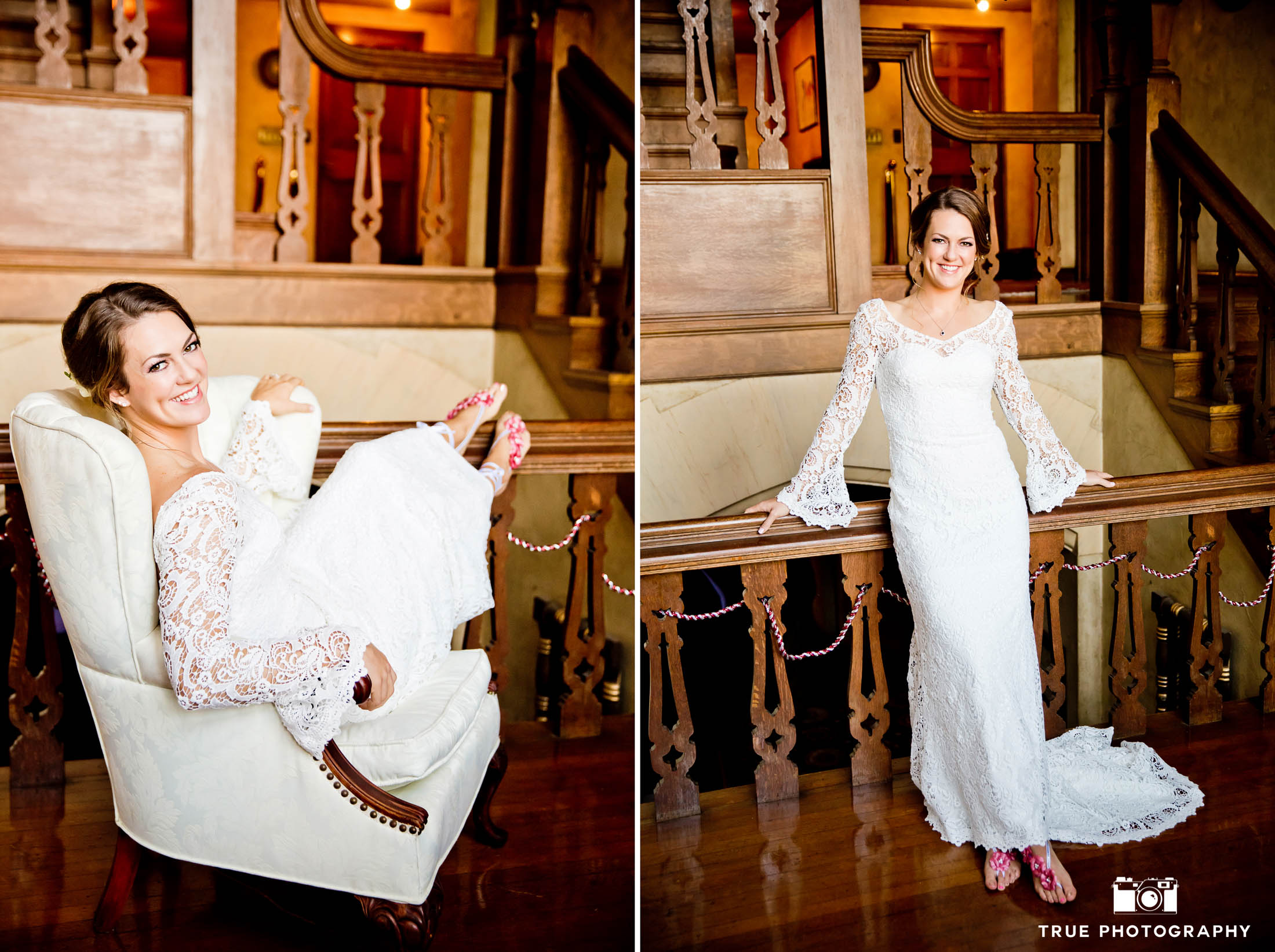 Coronado Island wedding bride getting ready at Grand Historical Mansion