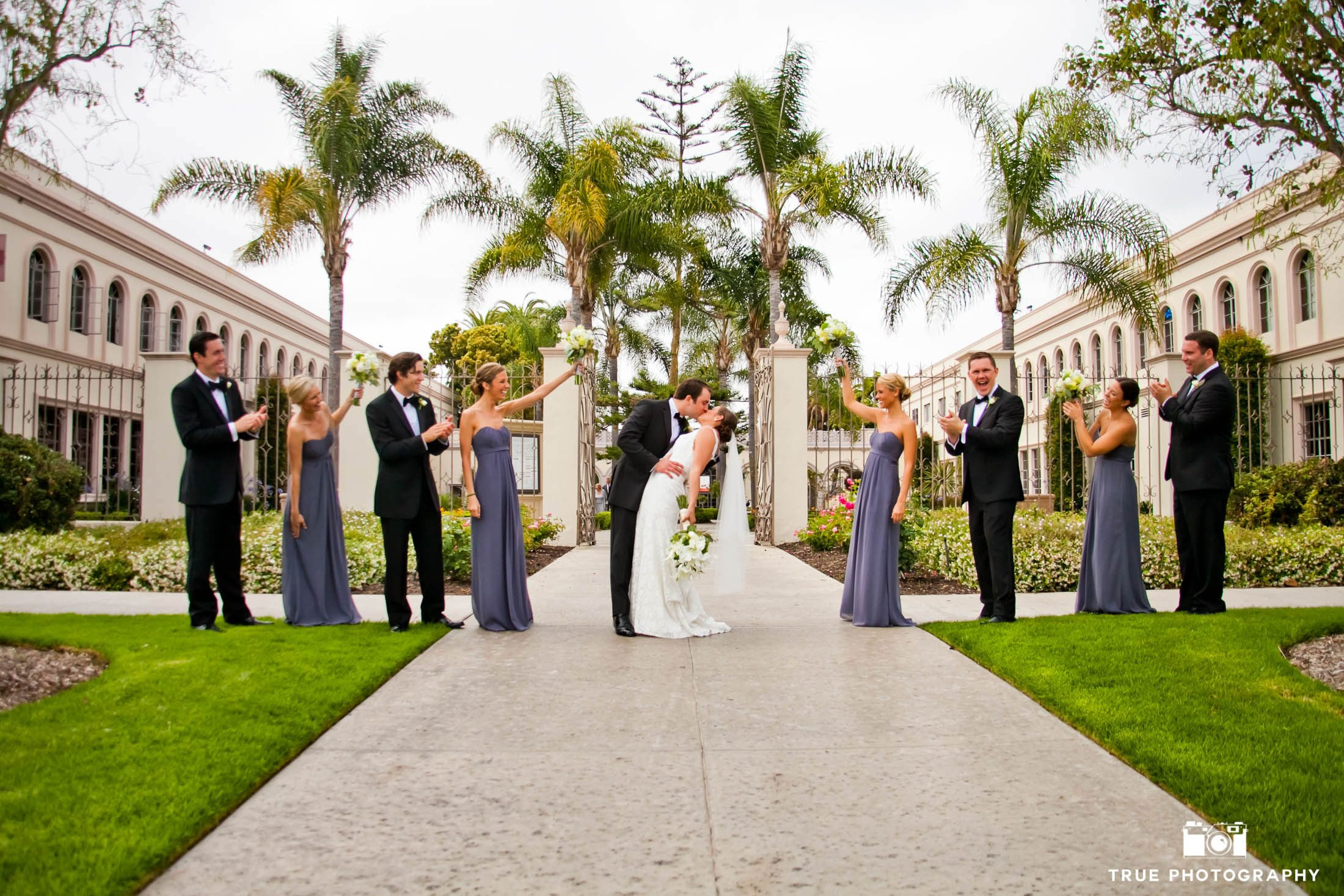 Portrait with the Wedding Party after thier ceremony at Founders Chapel