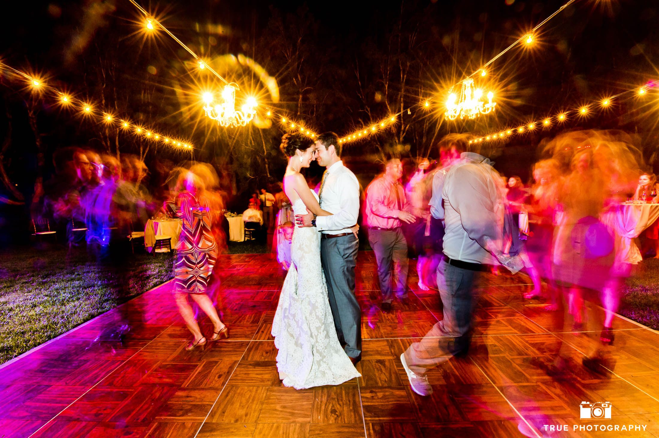 Reception wedding photo of bride and groom