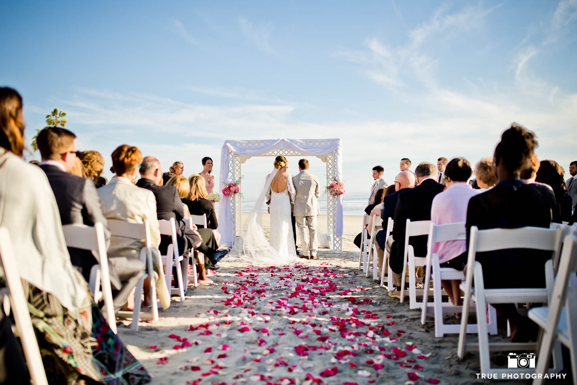 Coronado beach wedding ceremony