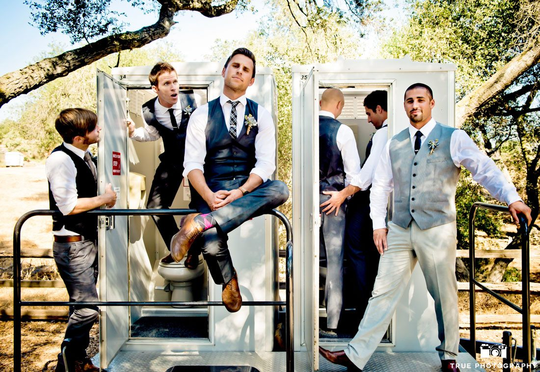 Groomsmen being silly with cool style