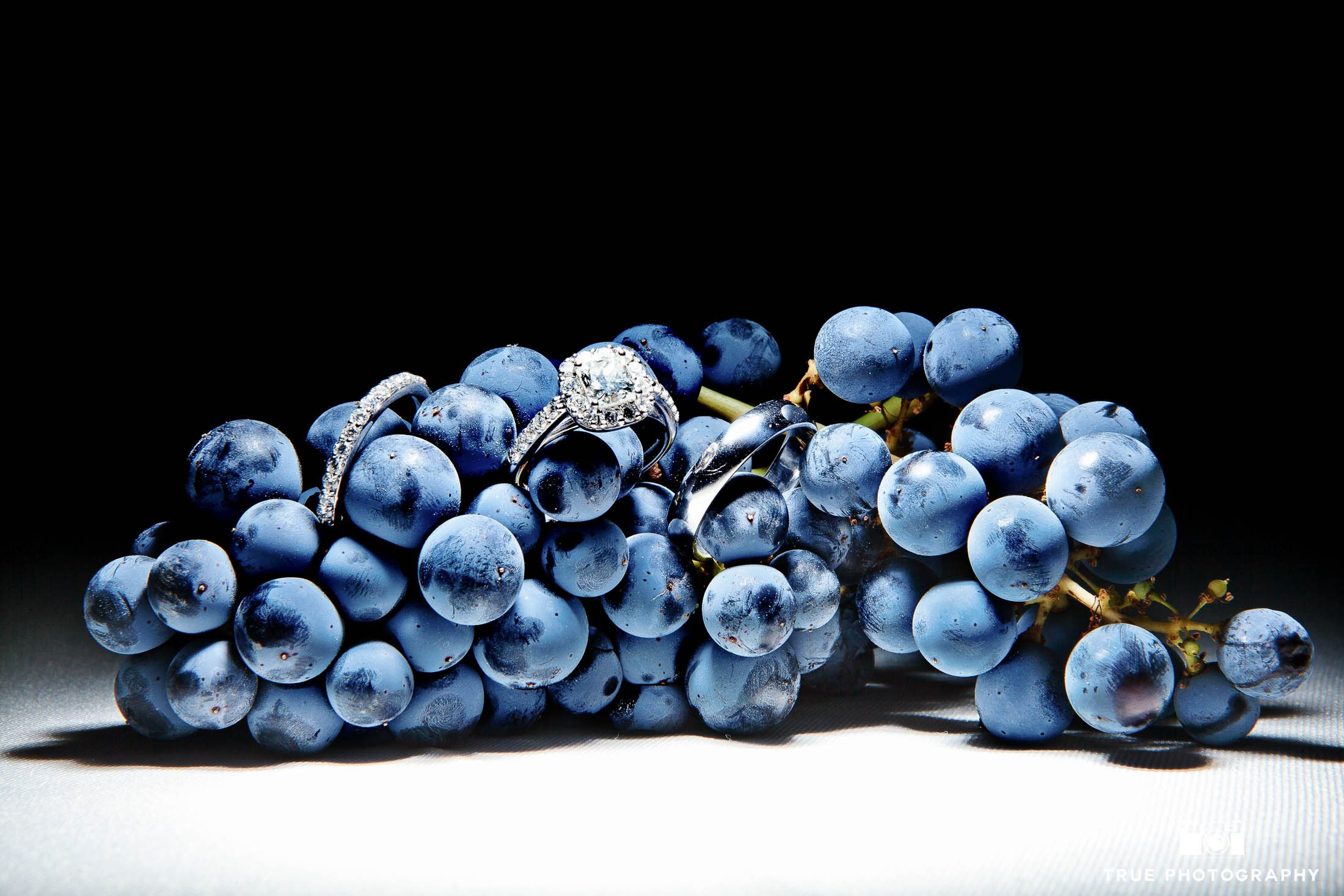 Creative Ring Photo with Grapes