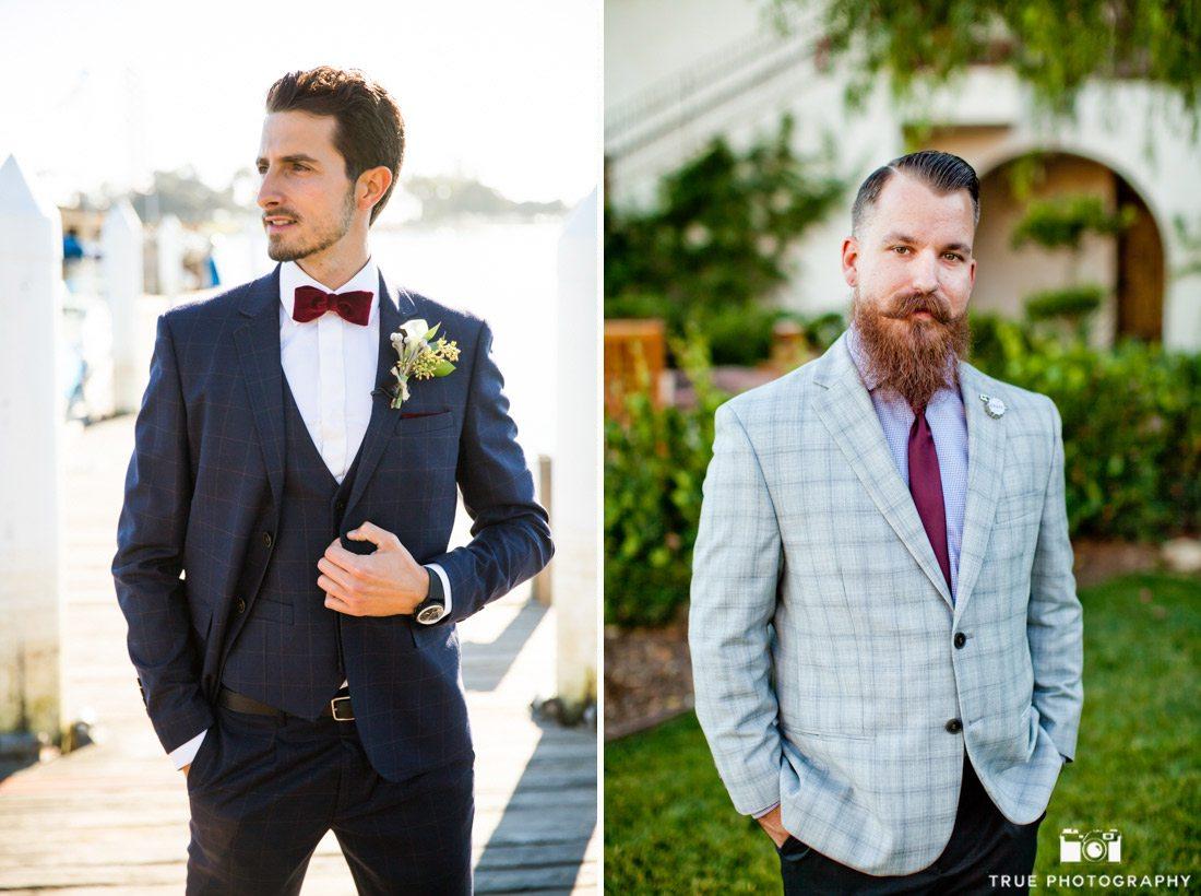 Modern groom fashion at wedding