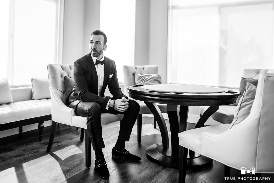 Cool portrait of fashionable groom