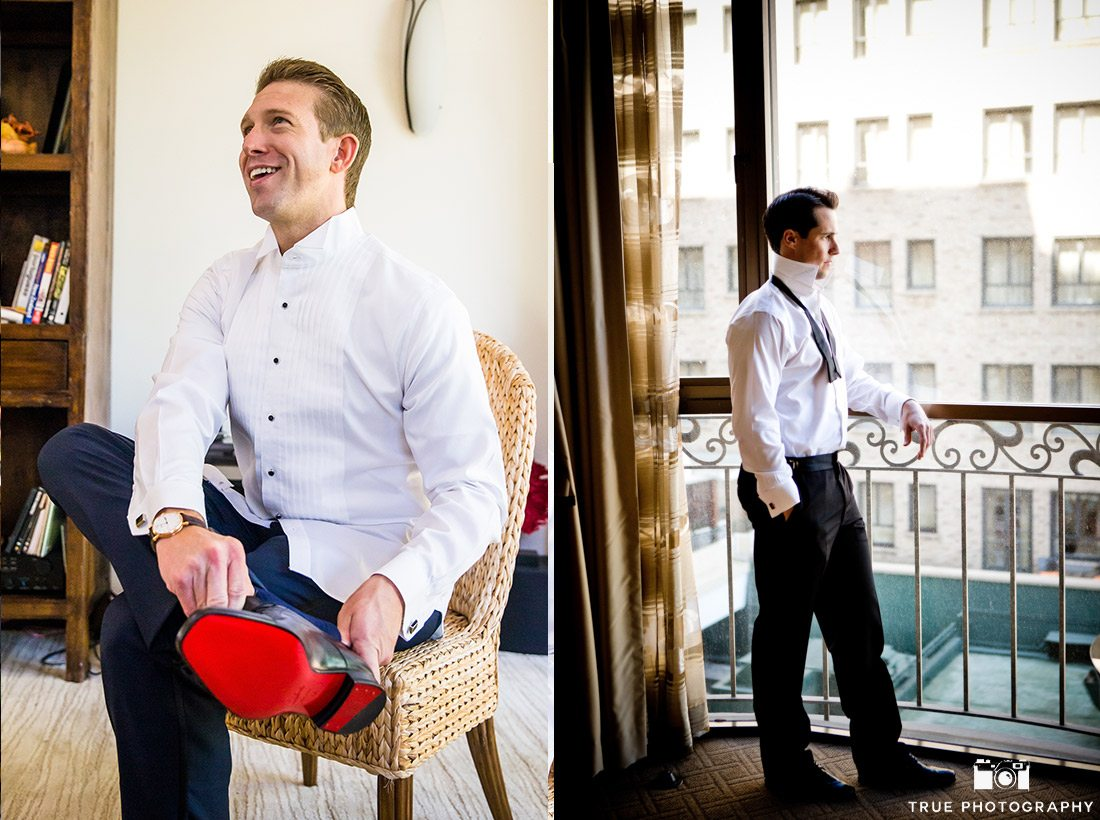 Groom in Beverly Hills and Louboutin Shoes