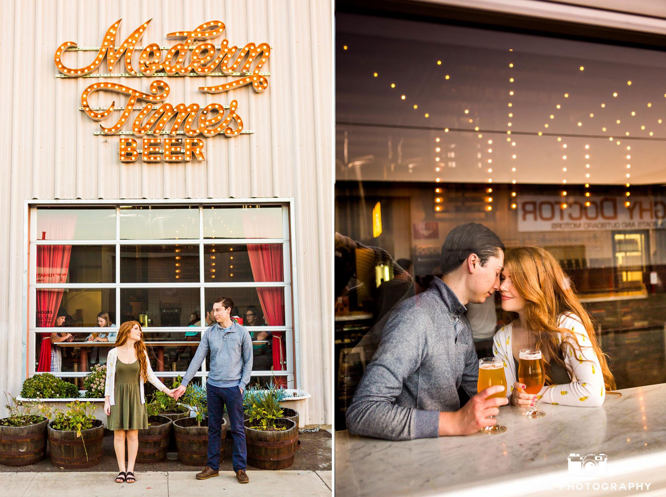 craft beer engagement photo shoot modern times brewery san diego