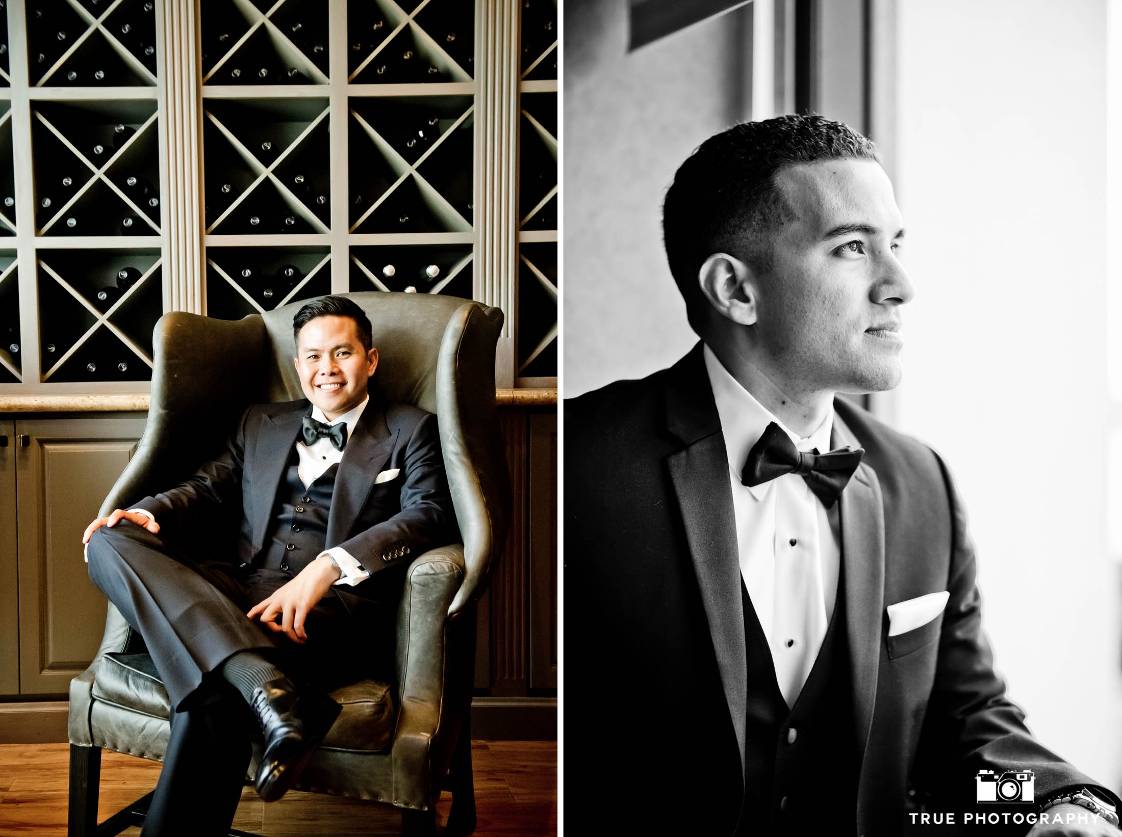 Modern groom before wedding ceremony