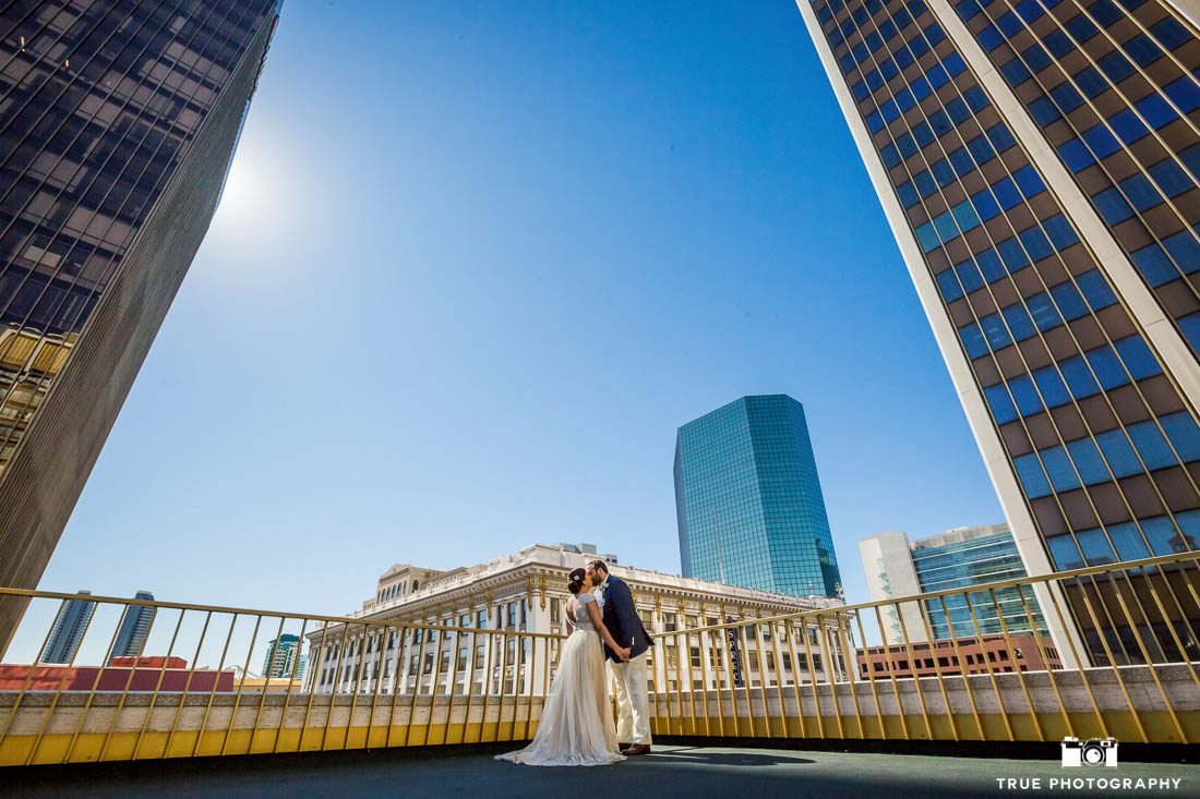 Bridal portraits at the Westgate Hotel San Diego on Super Bowl Sunday