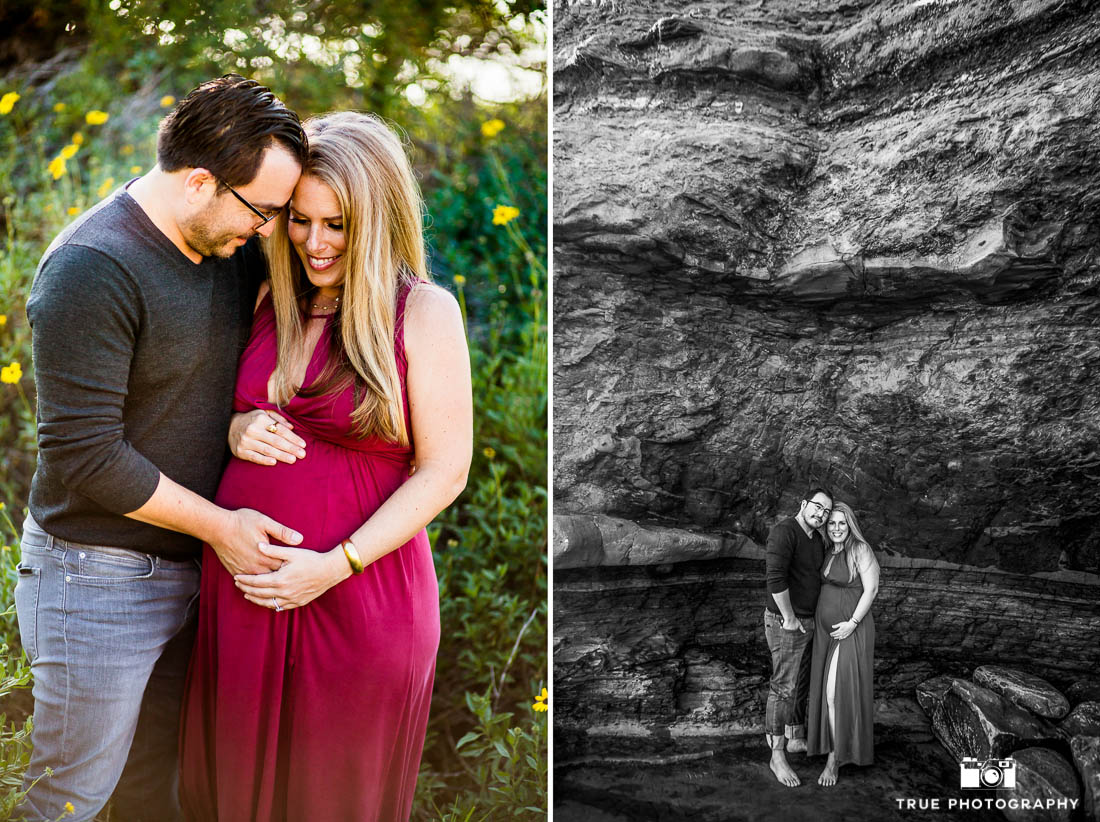 Husband and wife maternity photo session.
