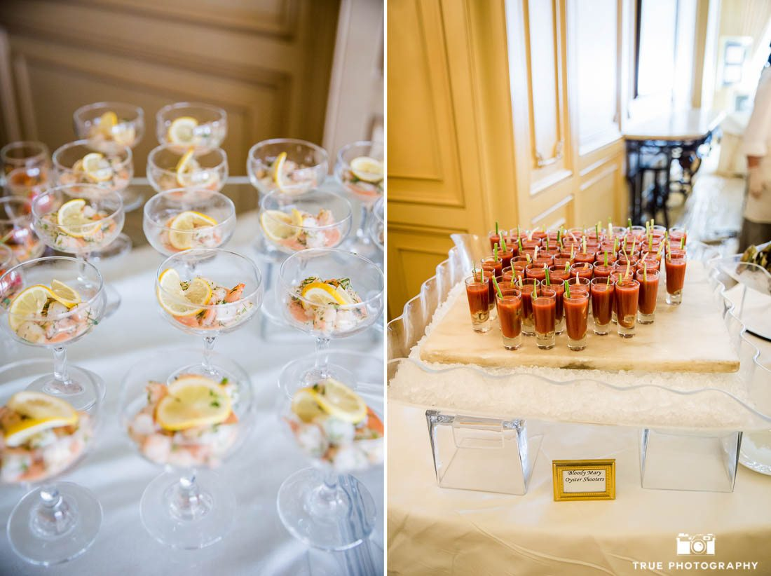 Shrimp and Bloody Marys at a Brunch Wedding at Westgate Hotel San Diego