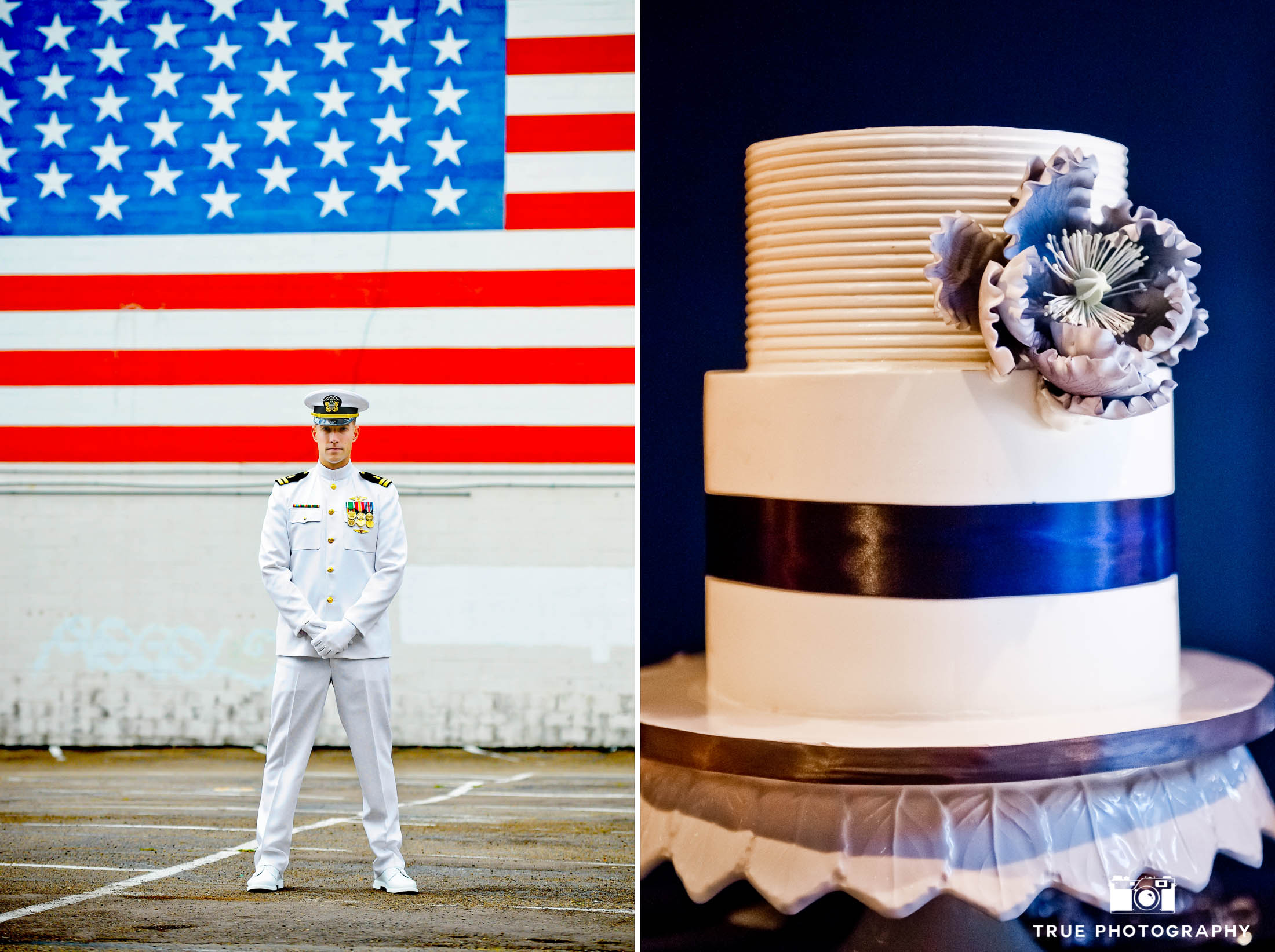 Patriotic Military Wedding Cake