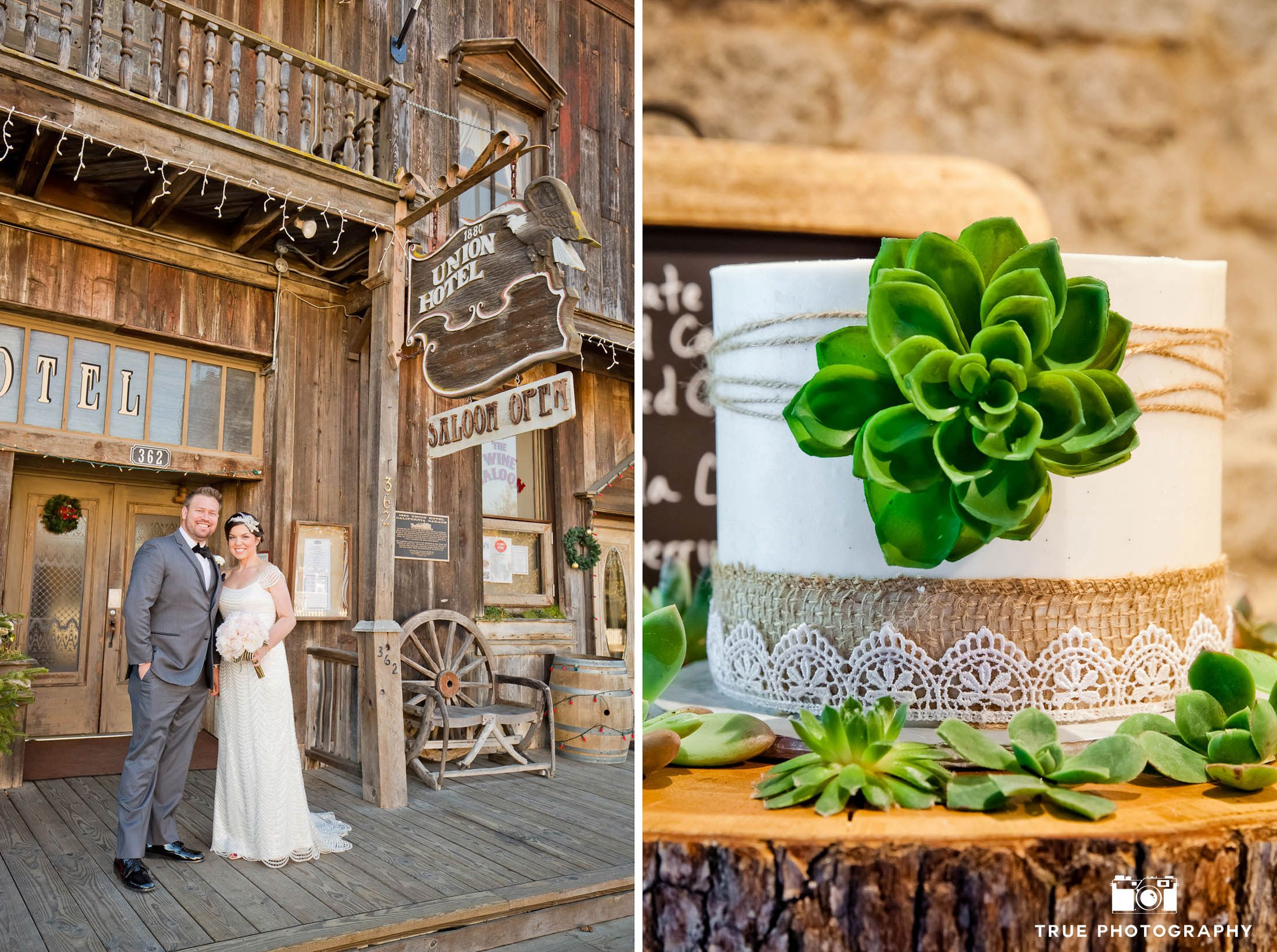 Rustic inspired wedding with aloe vera cake
